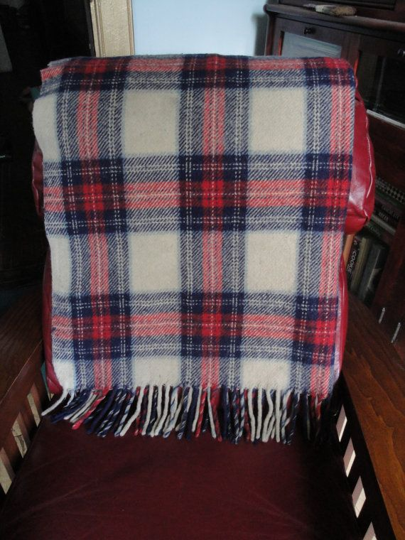 Red White and Blue Wool Throw by heydarlin on Etsy, $42.00