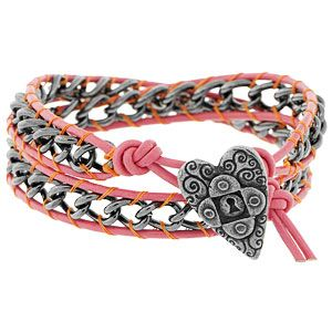 Chained to Loving You Bracelet | Fusion Beads Inspiration Gallery.  Cool technique