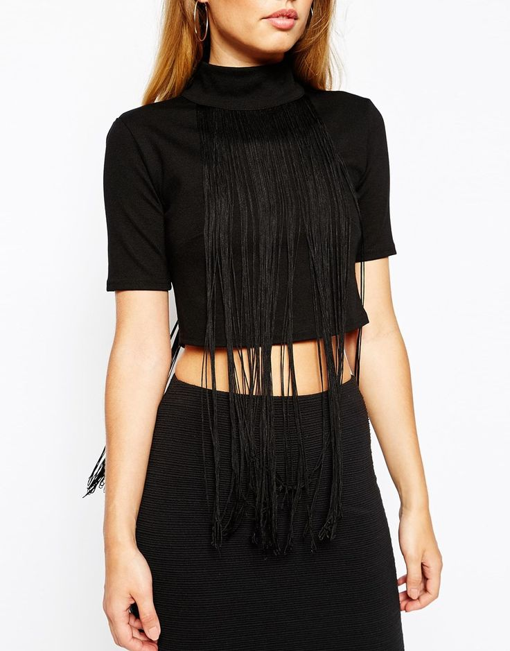 Oh My Love Long Fringe Crop Top