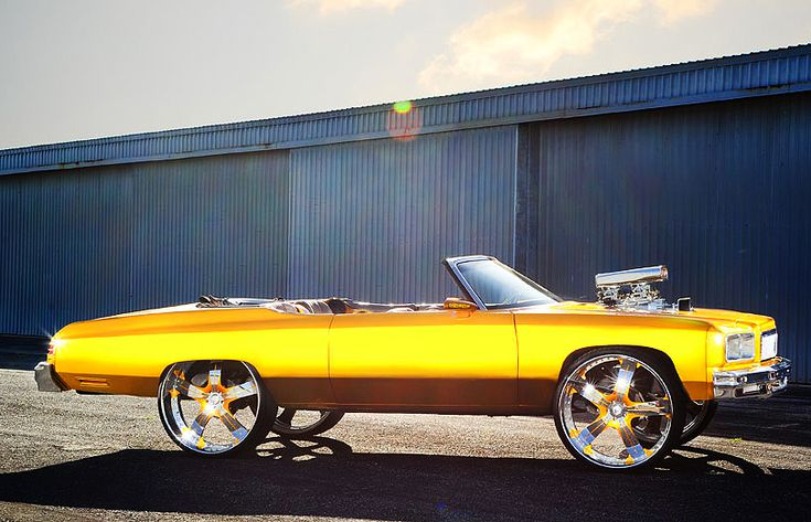 donk cars | DONK) 1975 Chevrolet Caprice convertible.