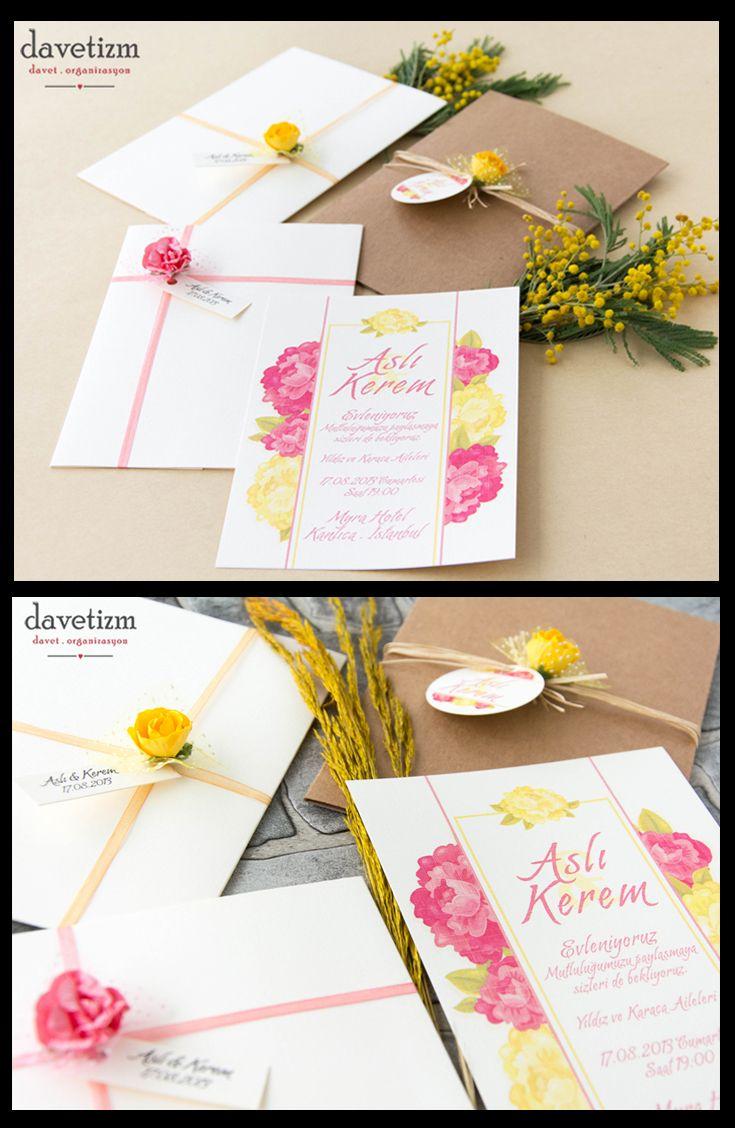 Bu renkli ve neşeli davetiye kahkahaların gökyüzüne yükseldiği eğlenceli düğünlerin habercisi olsun... #davetizm #davetiye #wedding #invitation