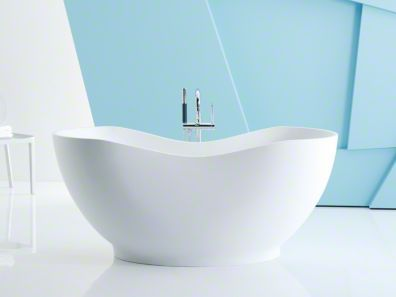 Freestanding Bath Kohler Abrazo In Honed White 7 280 Lithoc
