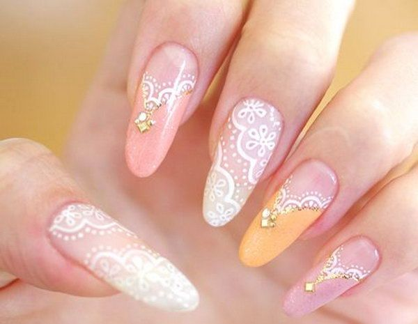 Best 25 lace nail art ideas on pinterest lace nail design pink 50 intricate lace nail art designs prinsesfo Images