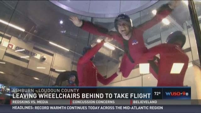 SPINALpedia attended iFLY Loudoun's indoor skydiving All Abilities Night. We invited a total of four quadriplegics and two paraplegics. Our story was covered by the local CBS news. Click the link below to watch the segment. http://on.wusa9.com/2enj0X7  iFLYworld.com has 37 locations around the world in the US, Canada, Europe and Asia!>>> See it. Believe it. Do it. Watch thousands of spinal cord injury videos at SPINALpedia.com