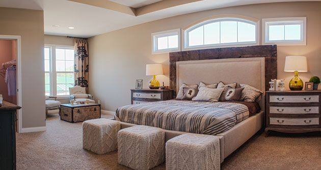 bed placement in master bedroom window placement above bed fischer homes clay master 18098