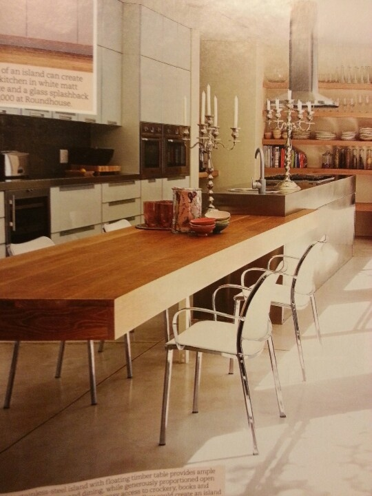 kitchen island with table