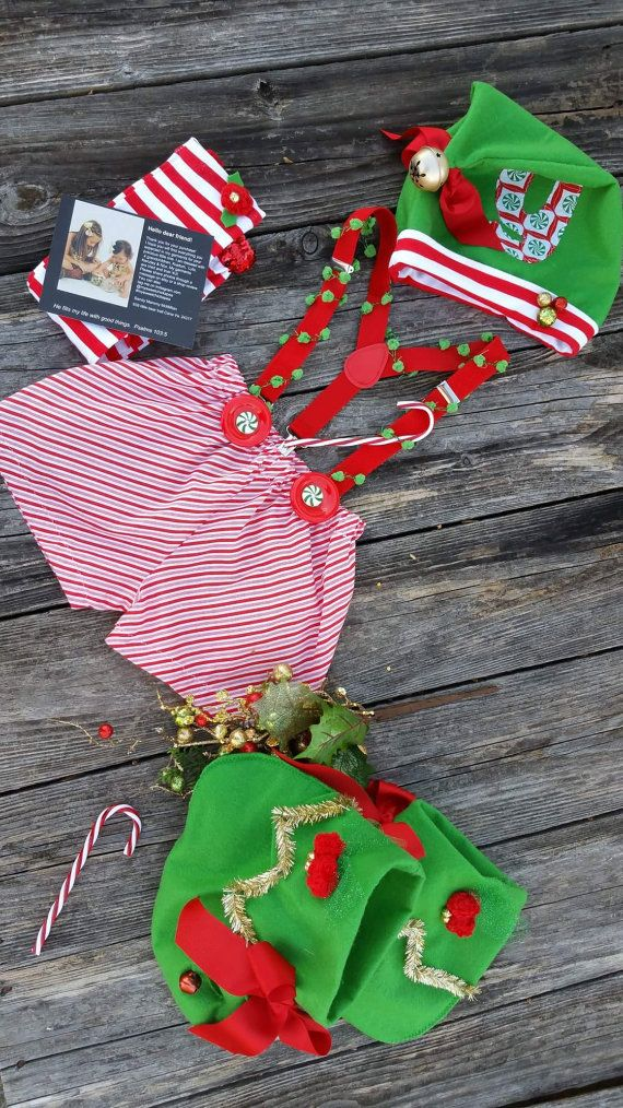 Christmas Elf Girls Elf Costume/Santas by MYSWEETCHICKAPEA on Etsy
