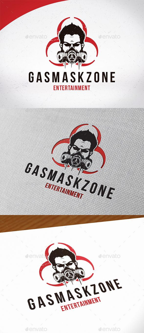 Gas Mask Logo Template — Photoshop PSD #security #danger • Available here → https://graphicriver.net/item/gas-mask-logo-template/18909344?ref=pxcr