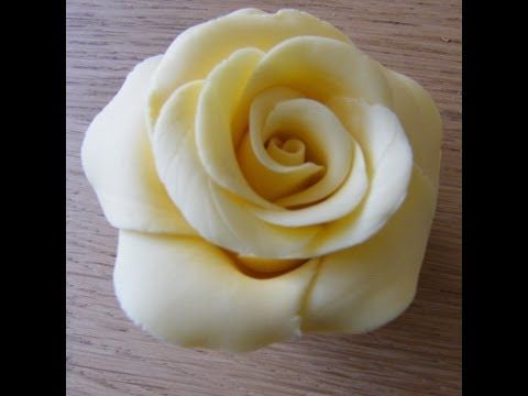 Handmade Fondant Rose - YouTube