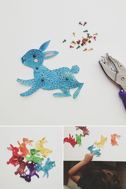 Colored Bunnies by oanabefort, via Flickr