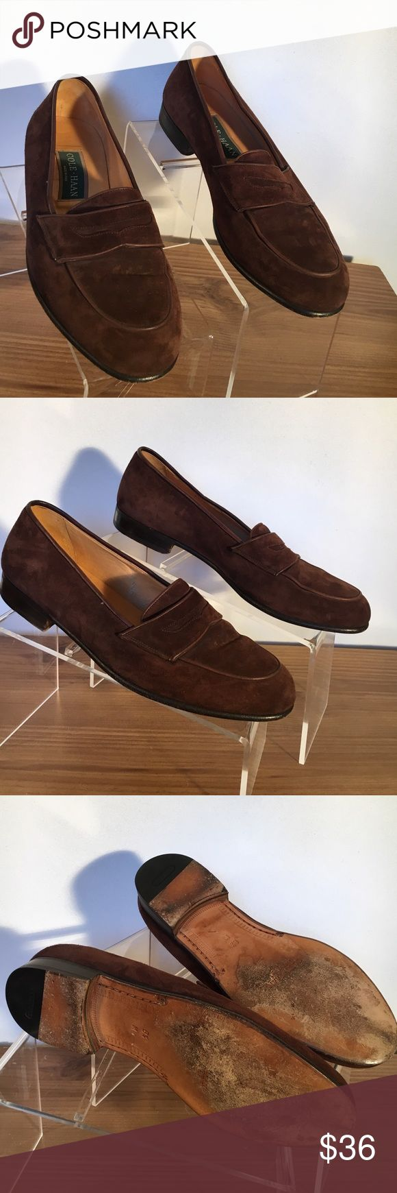 Cole Haan brown suede loafers Cole Haan brown suede loafers made in Italy. Excellent condition some wear on heel Cole Haan Shoes Loafers & Slip-Ons