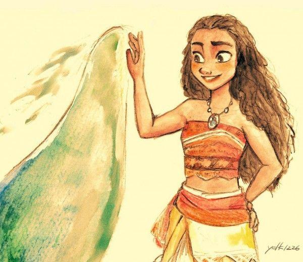 L'océan est mon ami #Moana #Vaiana #VaianaLaLégendeDuBoutDuMonde #Dessin ydk1226