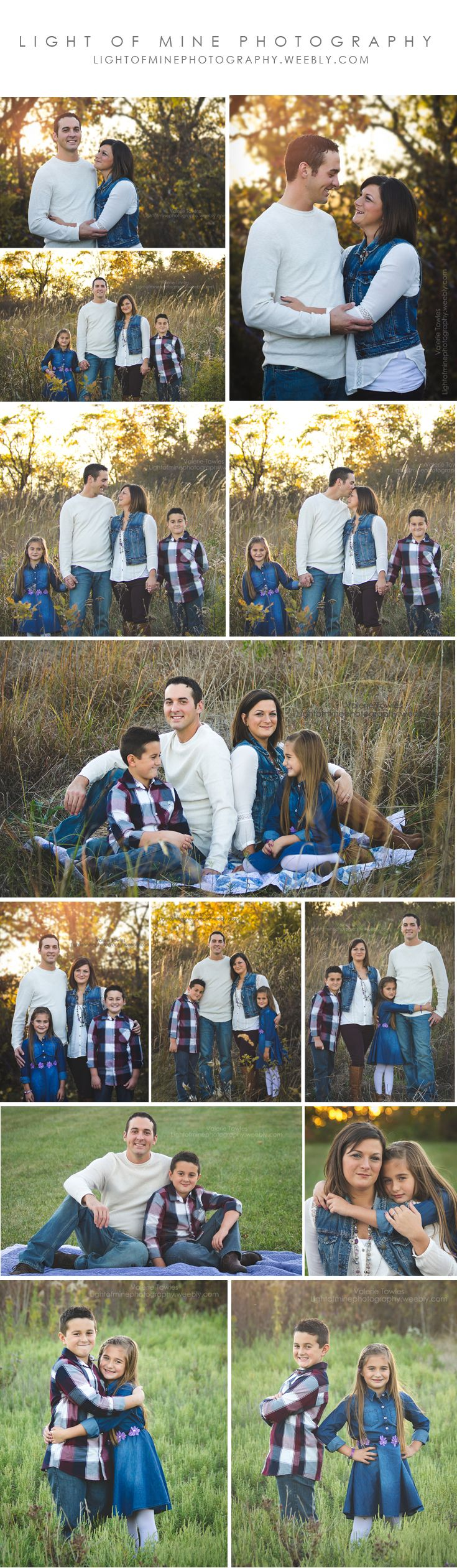 Family Portraits, Family of 4 photo session, Posing for families. Lightofminephotography.weebly.com
