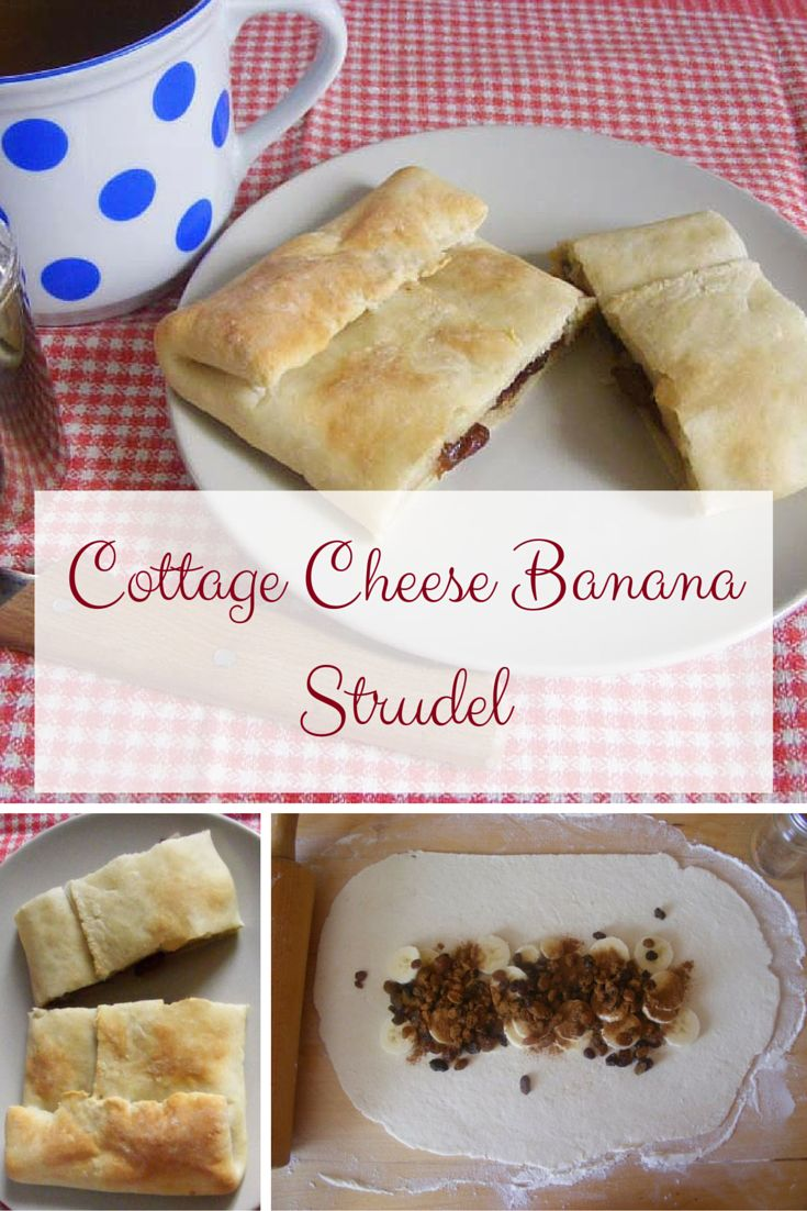 Cottage cheese banana strudel - healthy version of regular strudel. It is very delicious too.