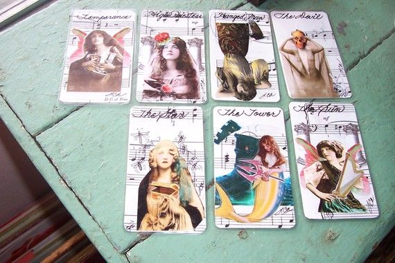 Handmade Tarot Cards Major Arcana 22 Beautiful by sweetlaraine, $125.00