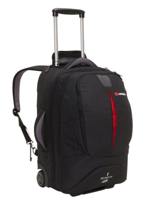 ModernManBags.com - Caribee Sky Master 45 Wheeled Travel Backpack - Black, $175.99 (http://www.modernmanbags.com/caribee-sky-master-45-wheeled-travel-backpack-black/)
