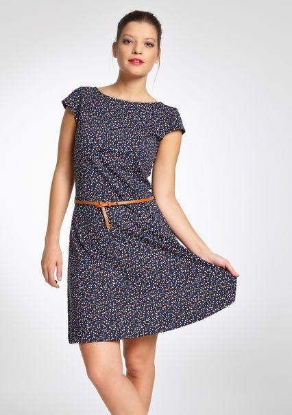 Geprinte jurk met korte mouwen - MULTICO - 804635