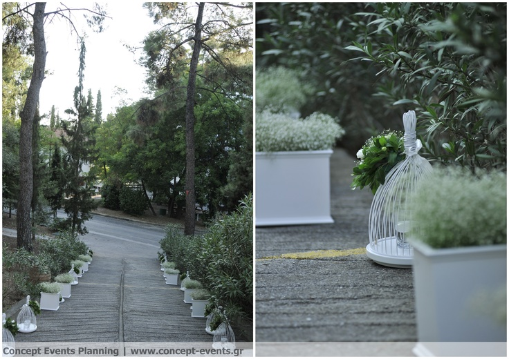 Wedding Ceremony aisle, baby's breath decor by Concept Events Planning | www.concept-events.gr