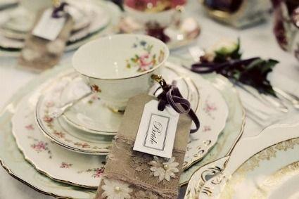 vintage wedding tea invitiations | More Tea Party Wedding Ideas · DIY Weddings | CraftGossip.com