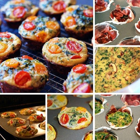Koolhydraatarme mini prosciutto frittata muffins #Powerslim #Lowcarb #Muffins