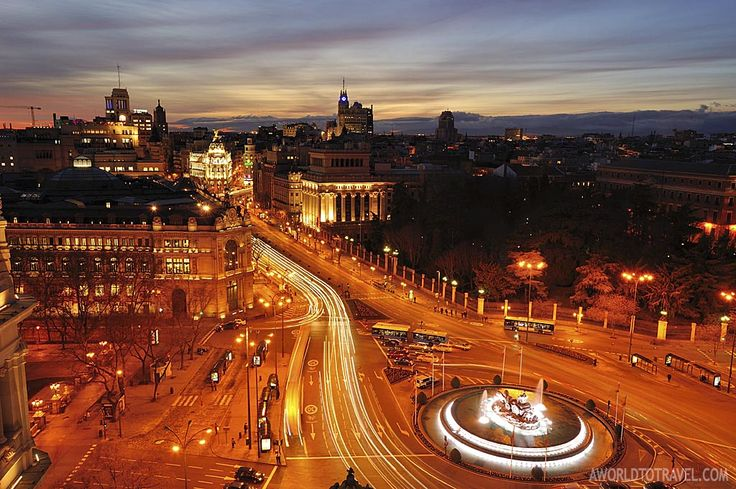 Madrid sunset postcard from Circulo de Bellas Artes rooftop - A World To Travel 5