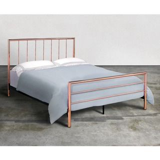 Shop for Furniture of America Hollander Contemporary Rose Gold Metal Platform Bed. Get free shipping at Overstock.com - Your Online Furniture Outlet Store! Get 5% in rewards with Club O!