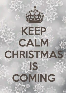 How can I keep calm when I know Christmas is coming? Do you know how much I have to do? I love it though... :) Warms my heart.