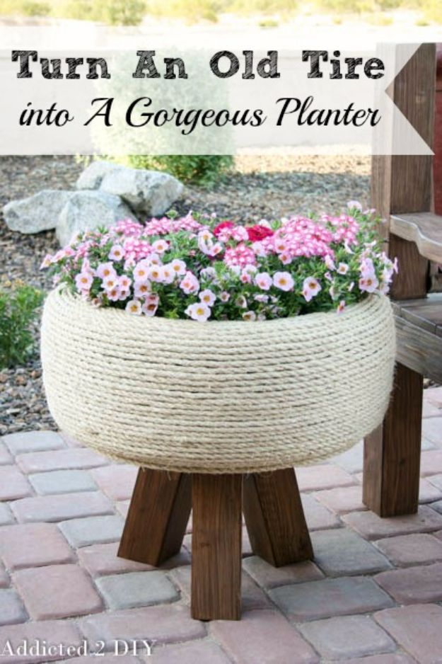 17 best ideas about old tire planters on pinterest for What to do with old tires