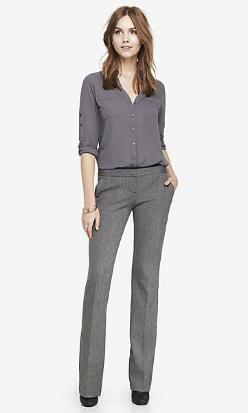 Cool SLIM FLARE COLUMNIST PANT