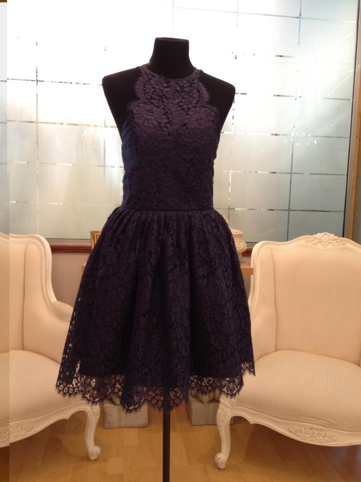French Chantilli Navy gown