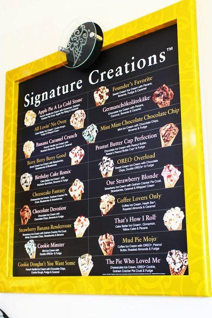 Cold Stone Creamery signature creations