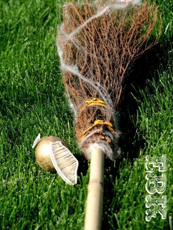 Brooms are a must for quiditch match.