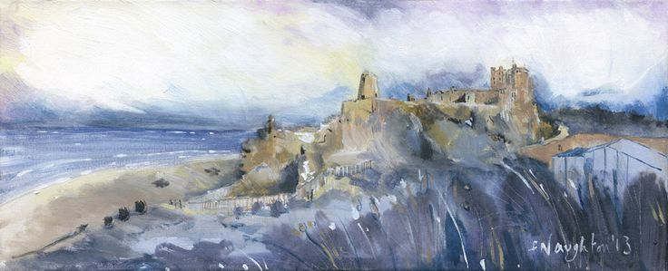BAMBURGH CASTLE It is well worth the climb above the dunes to catch this unusual view of one of Northumberland's best loved castles. The limited edition print was made from an original acrylic painting on canvas  Format: Limited edition Giclee printed on Epson Enhanced Matt 192gsm  Print size: 18 x 45cm  Mounted size: 36 x 60cm  FREE UK mainland standard delivery on all orders
