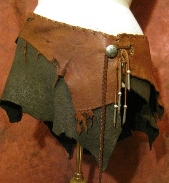 EXTRA LONG Leather Deerskin Utility Festival Wrap Belt