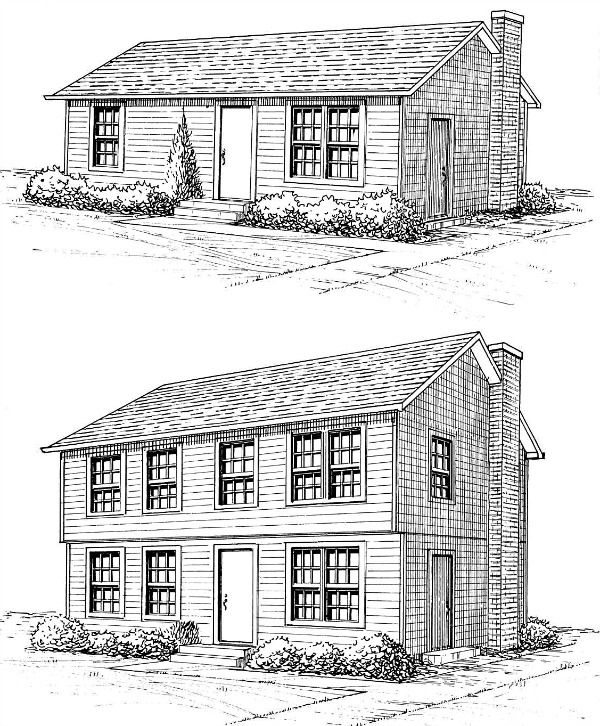 Home Additions Plan Drawings: Second Story Modular Additions
