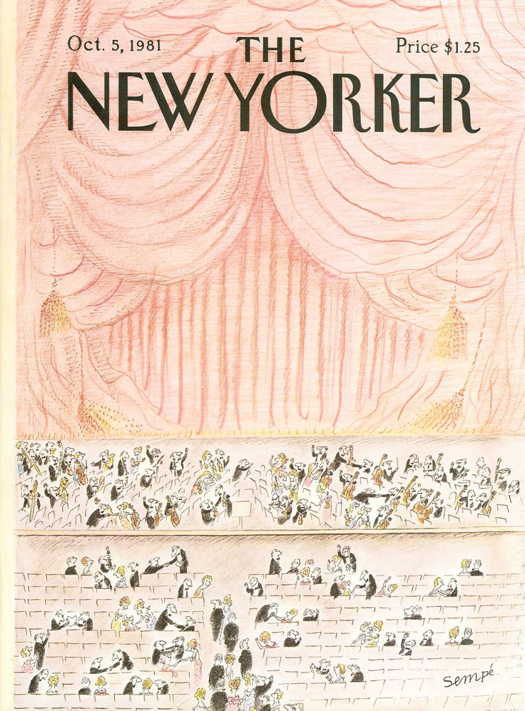"The New Yorker - Monday, October 5, 1981 - Issue # 2955 - Vol. 57 - N° 33 - Cover by : ""Sempé"" - Jean-Jacques Sempé"