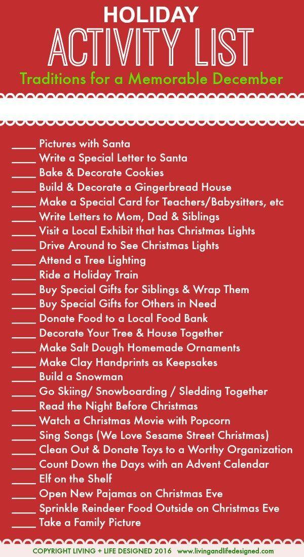 Urlaubsaktivitäten Liste für den Monat Dezember Vor Weihnachten (Chris – It's cold outside