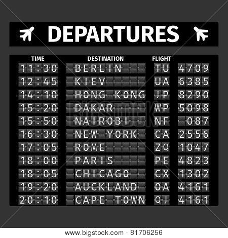 Airport Departure Board - Make a departure board with airports and dates of previous travels and adventures! ✈❤