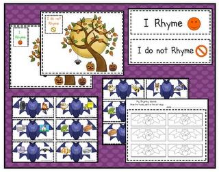 Bat rhyming/not rhyming (free!!)