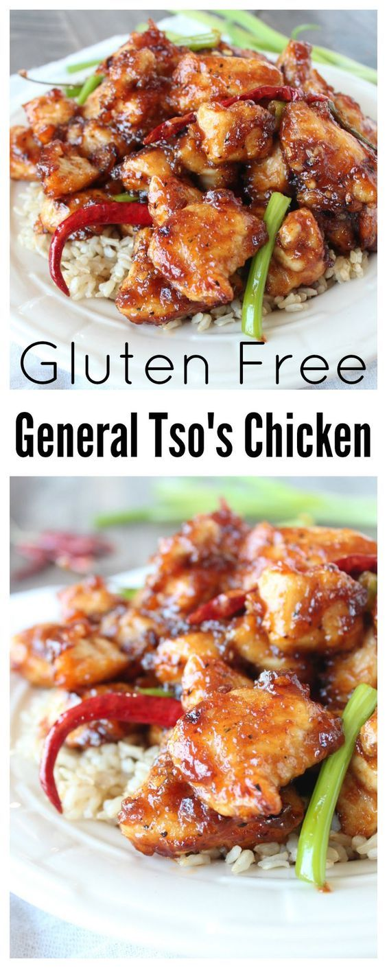 This scrumptious General Tso's Chicken Recipe is gluten free and lightly pan fried instead of deep fried making it a healthier version of the Chinese takeout favorite!
