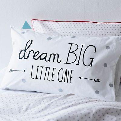 NEW Adairs Kids Dream Big Pillowcase