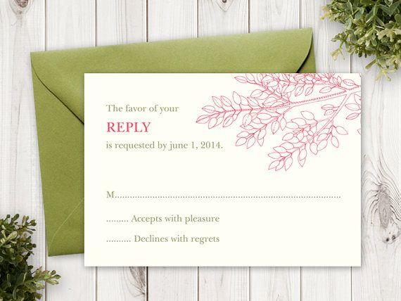 25+ cute DIY wedding rsvp cards ideas on Pinterest Wedding rsvp - free rsvp card template