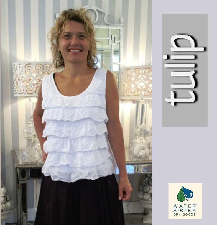 TULIP  CV734  Cotton  CHA-CHA  Tier Ruffle TANK Top Blouse   XS S M L XL  WHITE #TULIPUSA #Blouse #Versatile