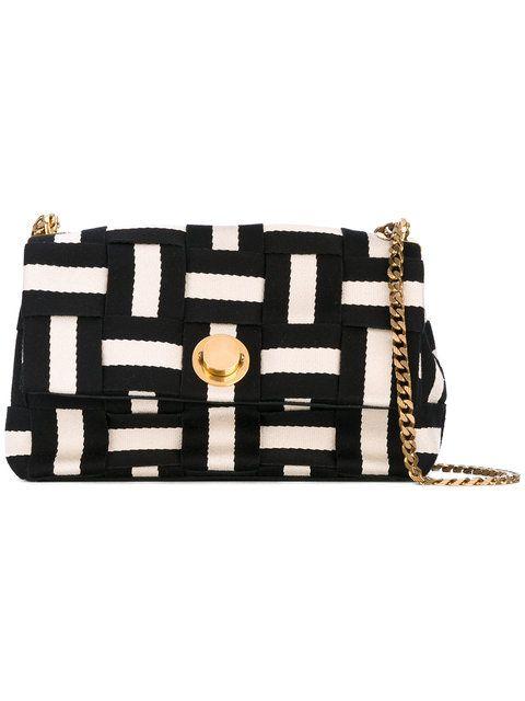Shop Bally striped shoulder bag.