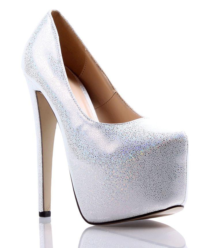 """Sexy Mix Color Blink Blink Ladies Pump Prom Wedges Platform Womens 6.5"""" High Heels Shoes New Without Box (7, Silver). Material: Synthetic. Heels Hight: Approx 6.5""""inch / 16.5cm. Platform Height: Approx 2.5""""inch / 6.35cm. Available: Size# 5.5-10. Ship from US, Manufacturer/Imported from China."""