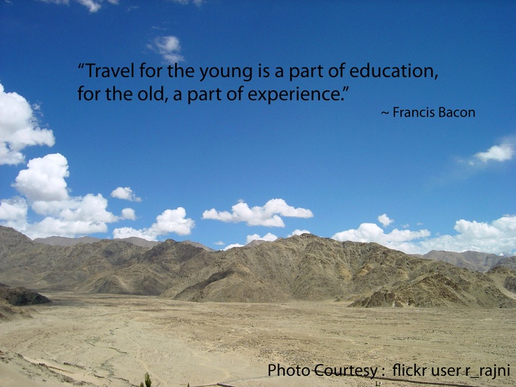 Essay on Travelling as a means of Education