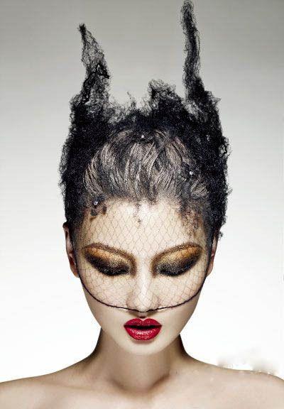 #black #lace #headpiece