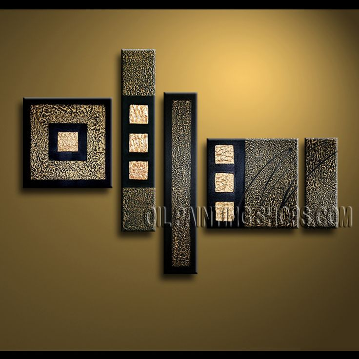 Huge Contemporary Wall Art Hand-Painted Art Paintings For Living Room Abstract. This 5 panels canvas wall art is hand painted by Kerr.Donald, instock - $182. To see more, visit OilPaintingShops.com