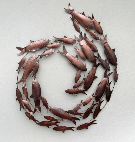 Contemporary Copper Fish Shoal 3D Metal Wall Art - Hand M... https://www.amazon.co.uk/dp/B00HR5QGAE/ref=cm_sw_r_pi_dp_GiNkxb70DVBB9
