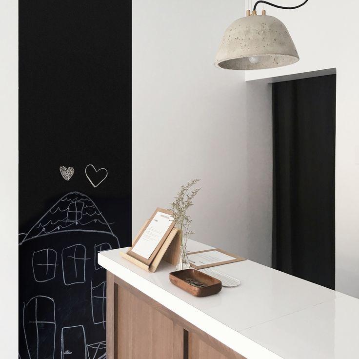 papier peint ardoise cuisine #ardoise #magneticwall #murnoir #wallpaper